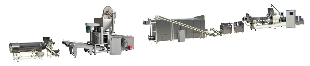 3D Snack Pellets Processing Line With Batch Fryer