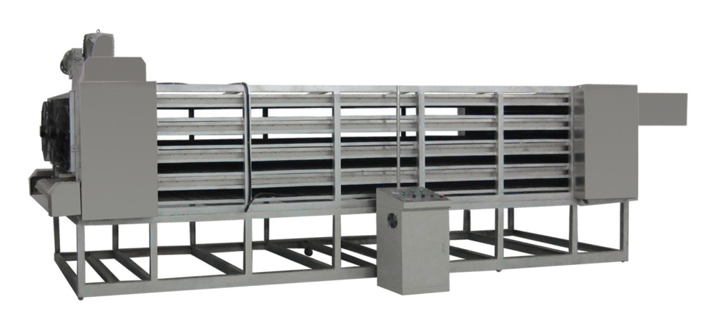 three layer cooling machine is used mostly in the corn flakes line