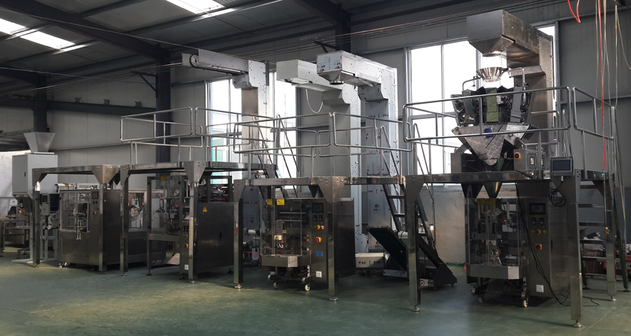 Assembly of automatic granule packing machine