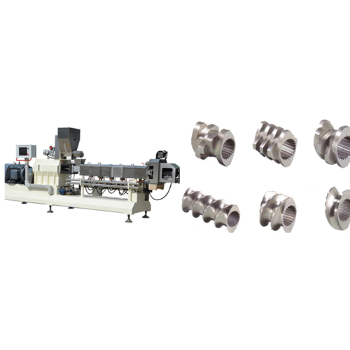 Working of the twin screw food extrusion machine