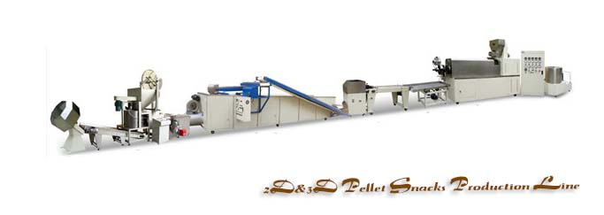 2D&3D pellet snacks production line