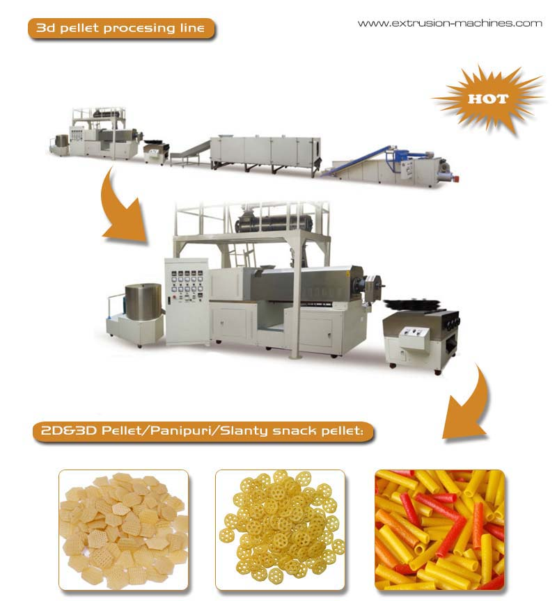 2D&3D pellet snacks processing line 65488
