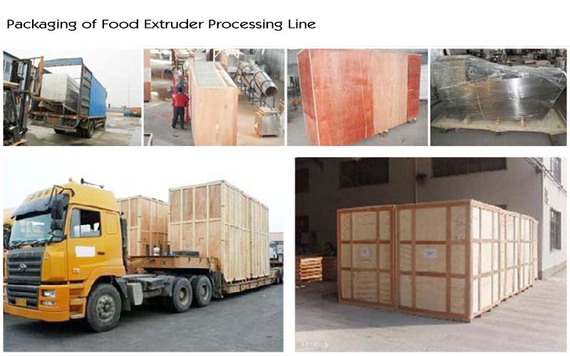 packaging of food extruder process line 65983254